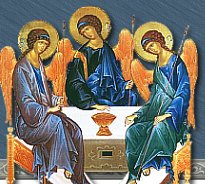 Holy Trinity Icon from the website of Holy Trinity Parish in Butte, Montana