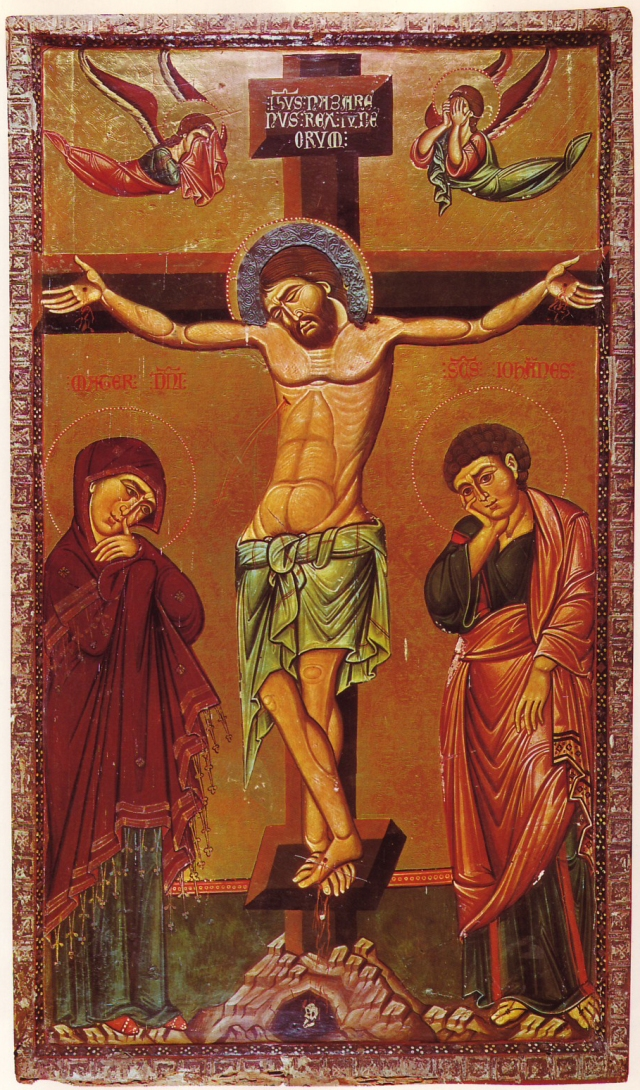 Crucifixion Icon 13th Century-Sinai.