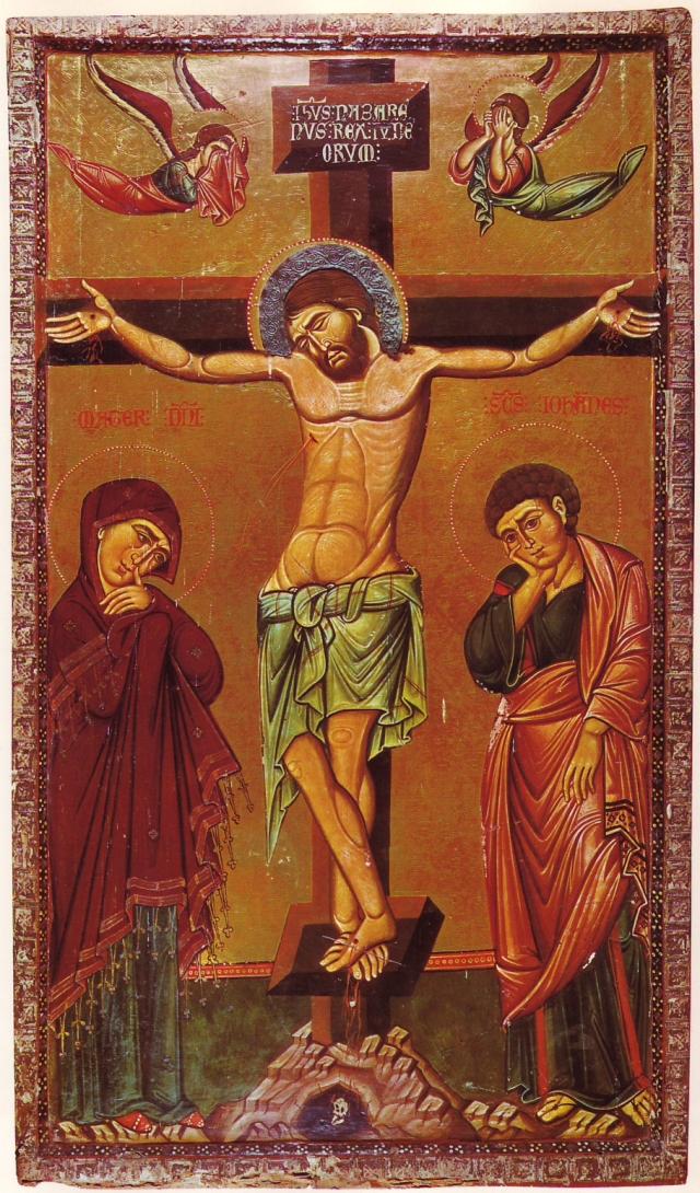 Crucifixion Icon 13th Century-Sinai.