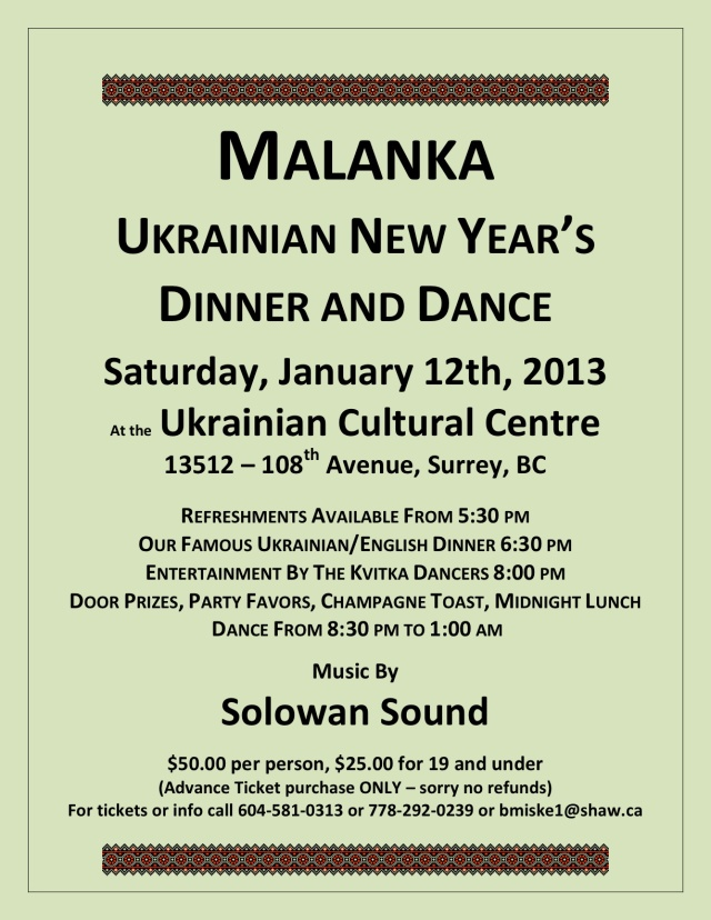 Jan 12, 2013 Malanka Poster