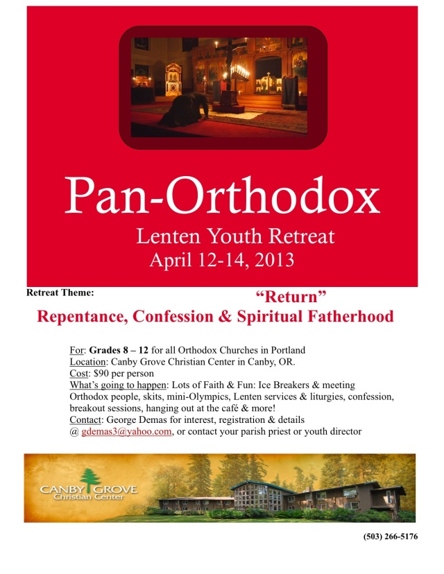 Pan-Orthodox Lenten Retreat 2013