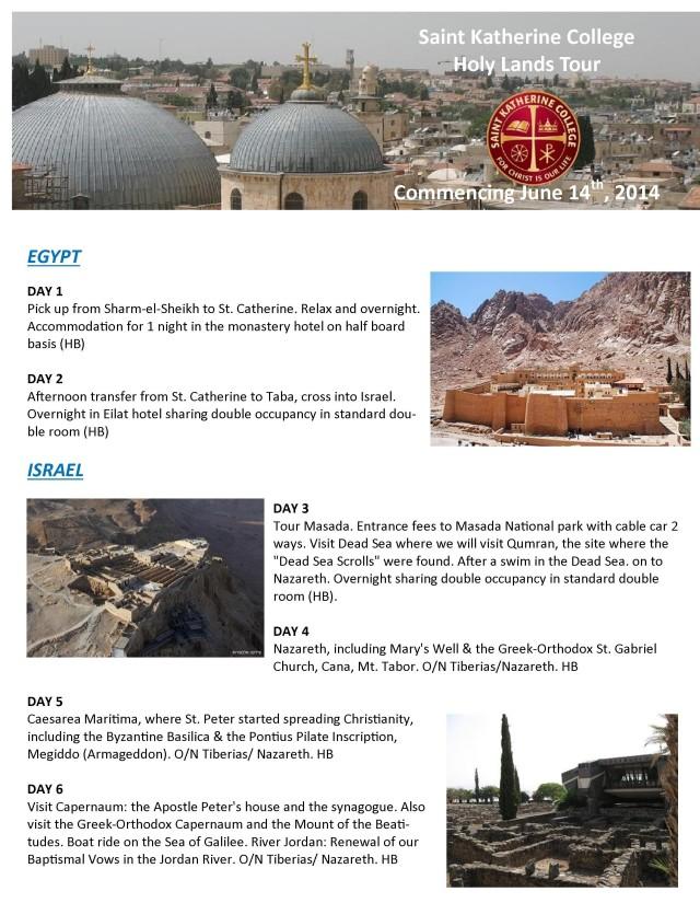 stkath holy land 2014 page 1