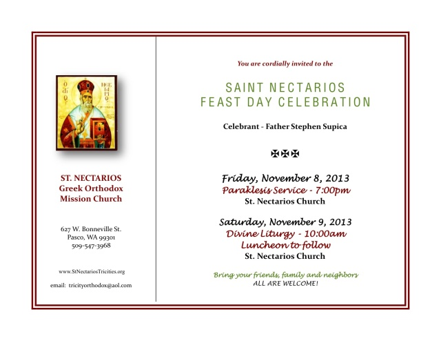 Feastday flyer 2013