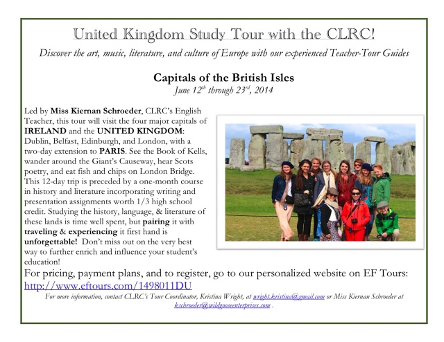 Visit Europe with the CLRC_Flyer