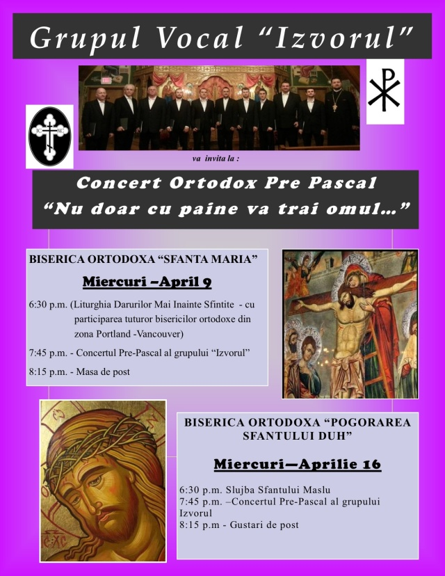 CONCERT PRE-PASCAL - IZVORUL 2014