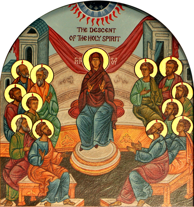 The Descent of the Holy  Spirit Icon.