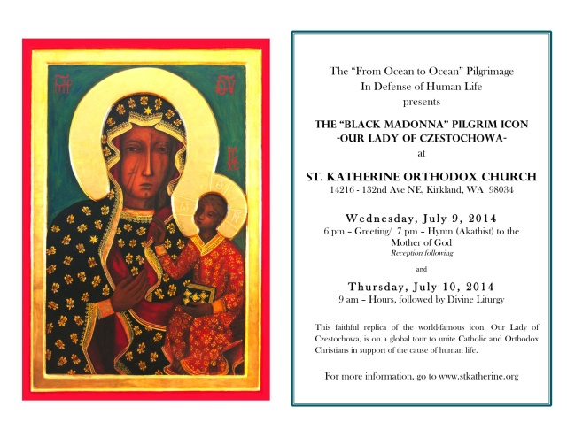 St.Katherine Orth Church-Icon Visit flyer