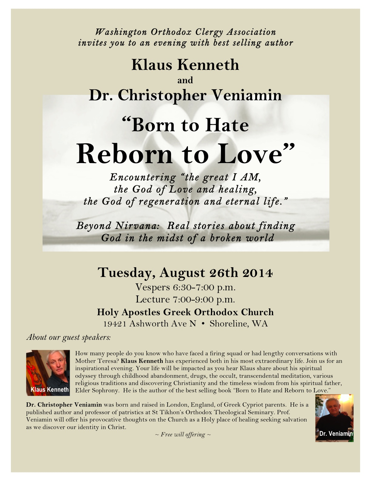 """Born to Hate Reborn to Love"""" Upcoming Talks with Klaus"""